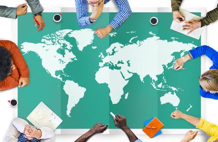 Mondiale Global Business Cartografia Globalizzazione Internazionale Concetto Archivio Fotografico - 41862184