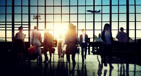 International Airport Terminal Travel Business Trip Concept Banque d'images