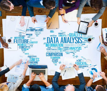 Data Analysis Analytics Comparison Information Networking Concept Stockfoto