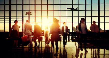 International Airport Terminal Travel Business Trip Concept Stok Fotoğraf