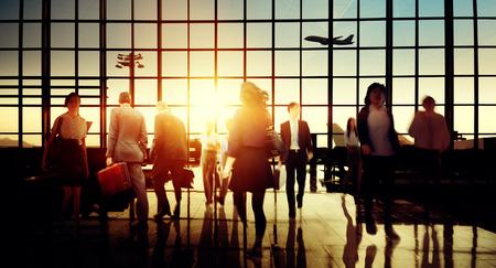 International Airport Terminal Travel Business Trip Concept Standard-Bild