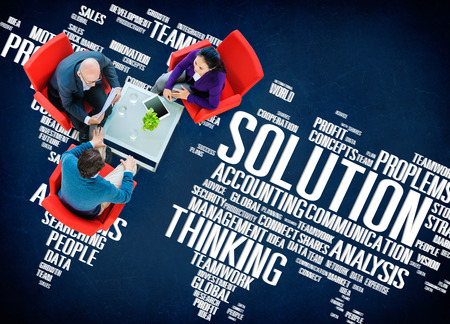 solve problem: Solution Success Sloved Decision Strategic Progress Concept