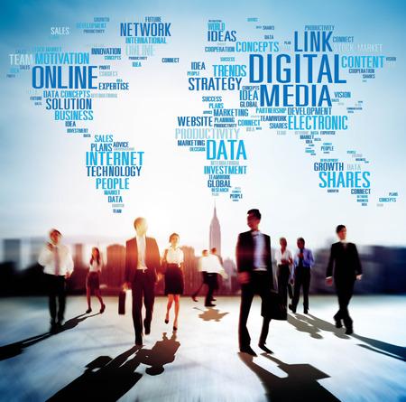 Digital Media Online Redes sociales Comunicación Concepto