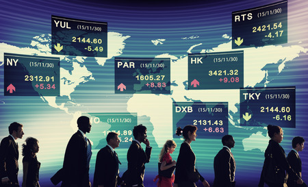 stock market exchange: Group of Business People Stock Market Concept Stock Photo