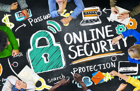 firewall protection: Online Security Protection Internet Safety Education Learning Concept