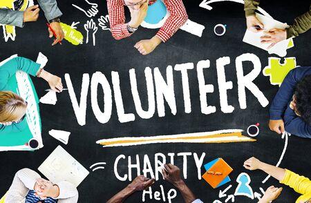 Vrijwilliger Charity Help Sharing geven doneren Assisteren Concept Stockfoto