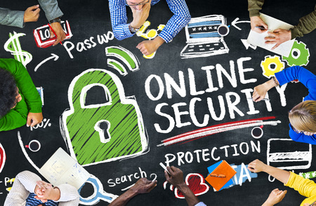 online security: Online Security Protection Internet Safety Education Learning Concept