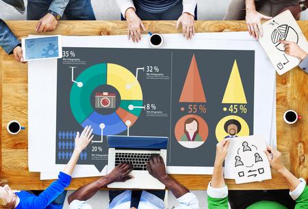 analytics: Analysis Analytic Marketing Sharing Graph Diagram Concept Stock Photo