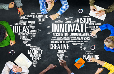 work in progress: Innovation Inspiration Creativity Ideas Progress Innovate Concept Stock Photo