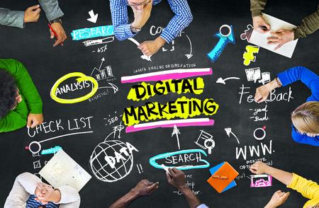 Digital Marketing Markenstrategie Online Media Concept