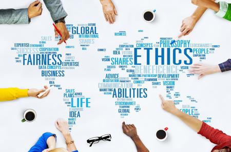etica: Ideales Ética Principios Morales Normas Concept