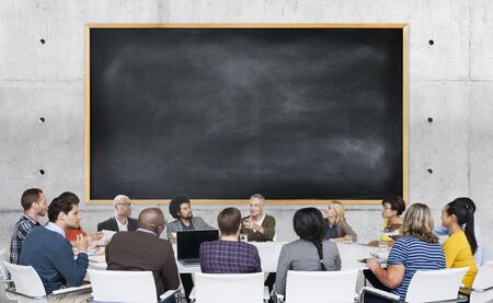 conversation: Diversity Casual People Meeting Brainstorming Concept Stock Photo