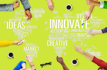 global innovation: Innovation Inspiration Creativity Ideas Progress Innovate Concept Stock Photo