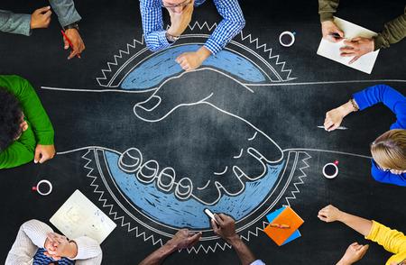 Réunion de planification Blackboard coopération Brainstorming Stratégie partage Concept Banque d'images - 41863224