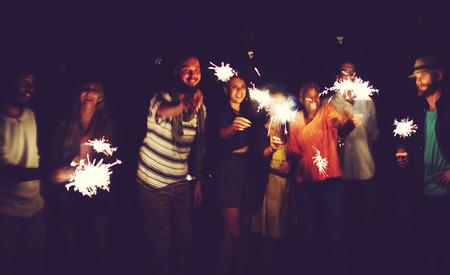 다양한 민족 우정 파티 레저 행복 개념 스톡 콘텐츠