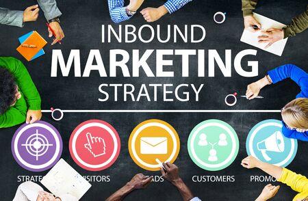 consumer marketing: Inbound Marketing Strategy Commerce Solution Concept