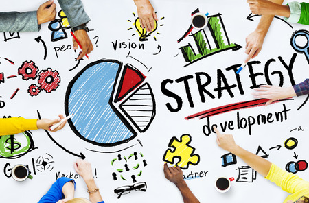 development process: Strategy Development Goal Marketing Vision Planning Business Concept