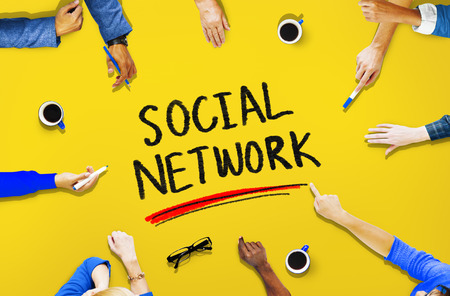 social network: Social Network Media Internet Online People Sharing Concept Stock Photo
