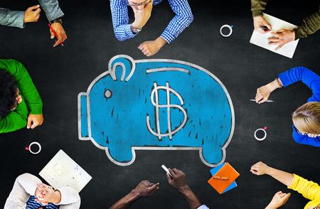 貯金金融お金通貨概念を勉強学習