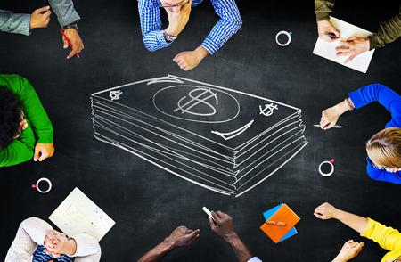 금융 돈 통화 학습 학습 교육 브레인 스토밍 개념