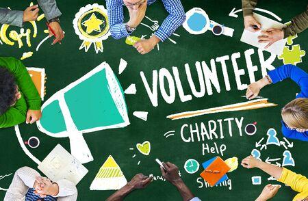 volunteer: Volunteer Charity and Relief Work Donation Help Concept