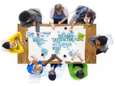 satisfaction client: Customer Satisfaction Reliability Quality Service Concept Banque d'images