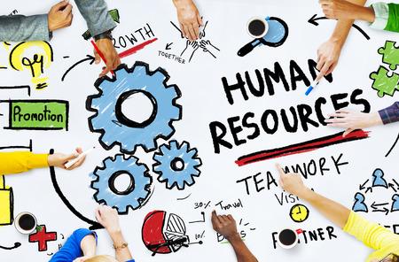 recursos humanos: Recursos Humanos Empleo Trabajo en equipo de oficina Concepto Reunión Foto de archivo