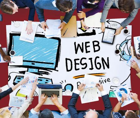 Web Design Web-Entwicklung Responsive Markenkonzept Standard-Bild - 41863497