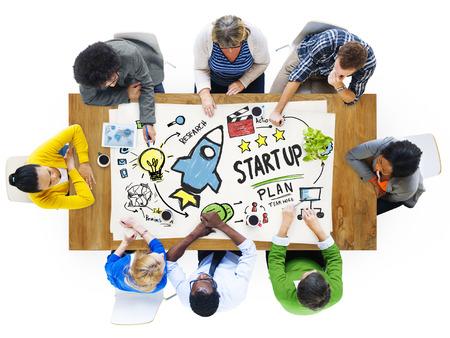 Start Up Succès de lancement d'entreprise People Meeting Concept Banque d'images - 41863534