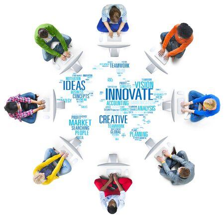 innovation: Innovation Inspiration Creativity Ideas Progress Innovate Concept Stock Photo