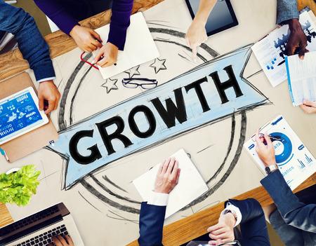 crecimiento personal: Planificaci�n Crecimiento Empresarial Estrategia Concepto Desarrollo Foto de archivo