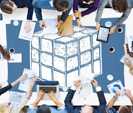 logic: Cube Dice Dimension Logic Mind Thinking Concept Stock Photo