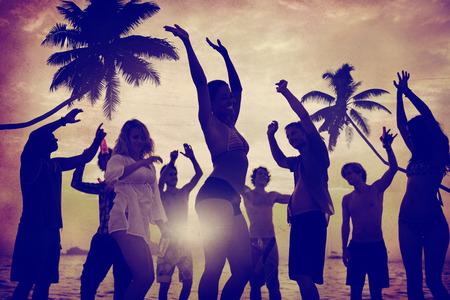 vacaciones en la playa: Celebración Beach Party Summer Holiday Vacation Concept