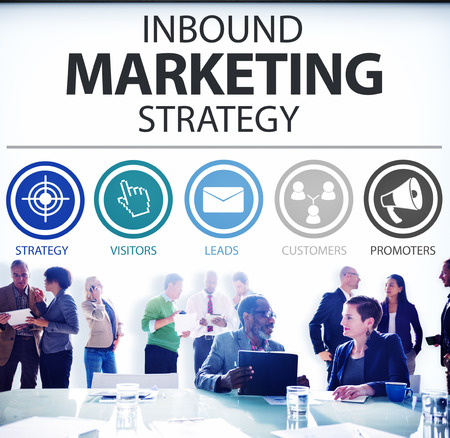 inbound: Inbound Marketing Strategy Commerce Solution Concept