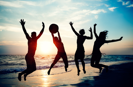 People Celebration Beach Party Summer Holiday Vacation Concept