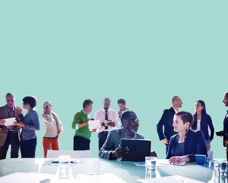 young business people: Business People Discussing Work Communication Concept Stock Photo