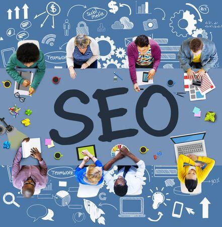 Search Engine Optimization Business Strategy Marketing Concept 版權商用圖片