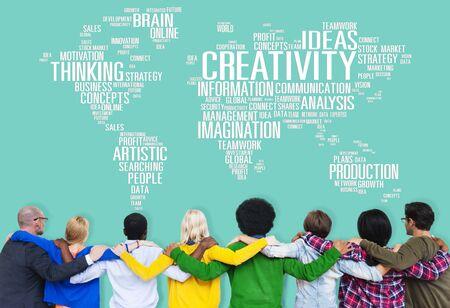 creativity: Creativity Artistic Imagination Inspiration Innovation Concept
