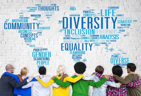 igualdad: Concepto Diversidad Etnia World Community Global Foto de archivo