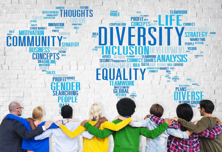 society: Diversity Ethnicity World Global Community Concept