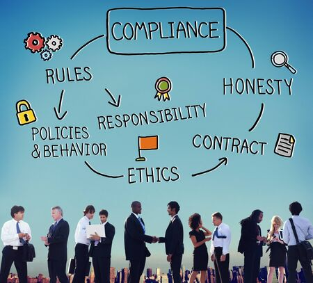 compliance: Compliance Rules Responsibility Legal Agreement Concept Stock Photo
