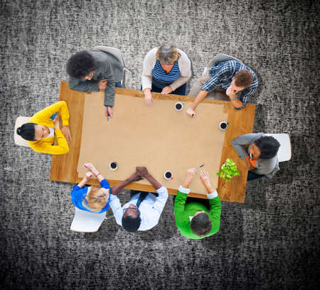business casual: Business Casual Teamwork Discussion Meeting Planning Concept