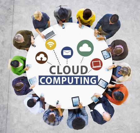 asian man laptop: Cloud Computing Network Online Internet Storage Concept
