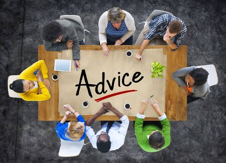 support group: Multiethnic Group of People Discussing About Advice Stock Photo
