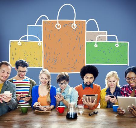 capitalismo: Bolsa de la compra venta capitalismo Shopaholic Concepto