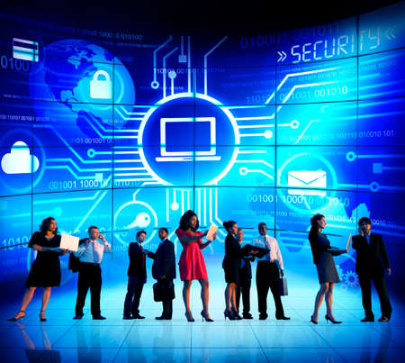 security technology: Business People Security Technology Communication Corporate Concept Stock Photo