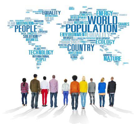 multi national: World Population Global People Community International Concept
