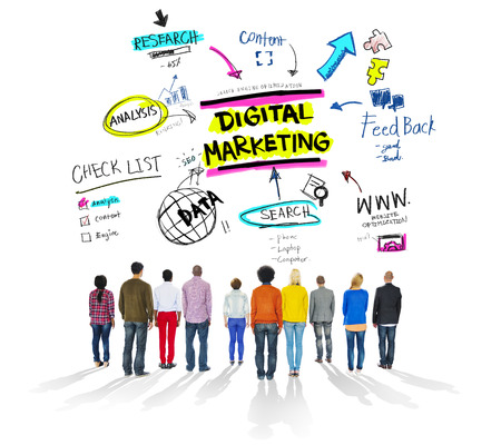 Digital Marketing Branding Strategy Online Media Concept Stok Fotoğraf