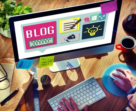 BLOG: Blog Weblog Media Online Messaging Notes Concept