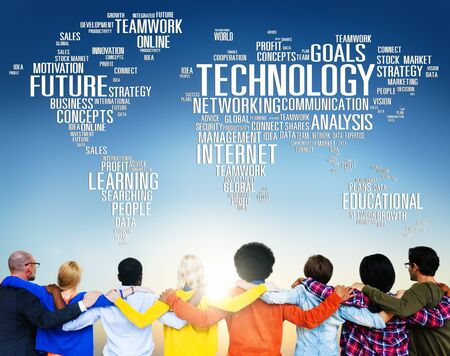 diversidad: Technology Networking Connection Global Communication Concept Foto de archivo
